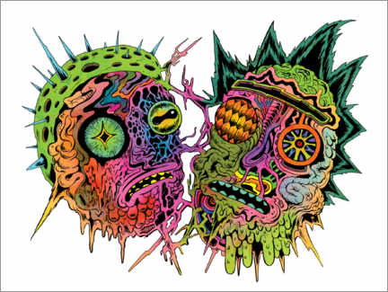 Premiumposter  Psychedelic zombies