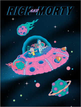 Premiumposter  Rick and Morty - Space Ship