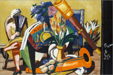 Premiumposter  Large still life with telescope - Max Beckmann