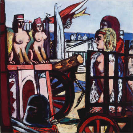 Galleritryck  Removal of the sphinxes - Max Beckmann
