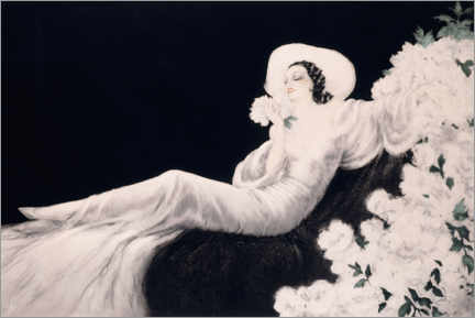 Självhäftande poster  Loves the bloom - Louis Icart