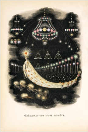 Premiumposter  The Peregrinations of a Comet (french) - J.J. Grandville