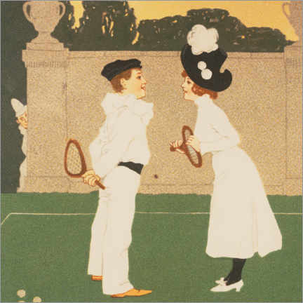 Premiumposter  Acquaintance on the tennis court - Brynolf Wennerberg