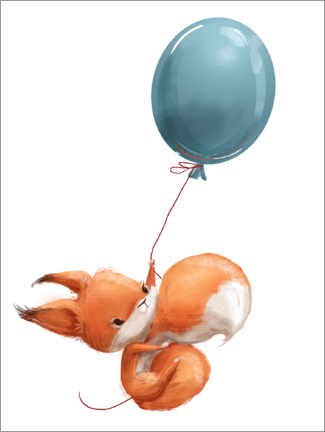 Premiumposter  Red squirrel with balloon - Kidz Collection