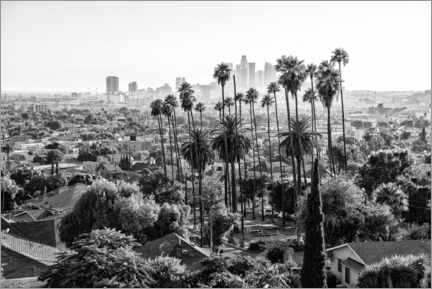 Premiumposter  Black California - The Los Angeles Skyline - Philippe HUGONNARD