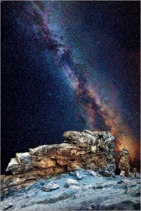 Premiumposter Milky Way over the Devil's Wall