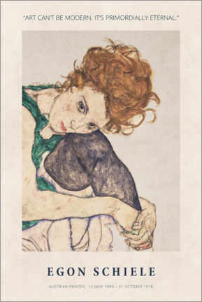 Premiumposter  Egon Schiele - Primordially eternal - Museum Art Edition