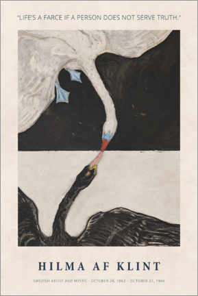 Premiumposter  Hilma af Klint - Serve truth - Museum Art Edition