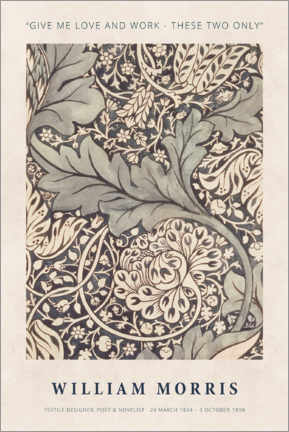 Premiumposter  William Morris - Love and work - Museum Art Edition