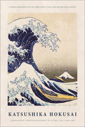 Premiumposter  Katsushika Hokusai - Five more years - Museum Art Edition