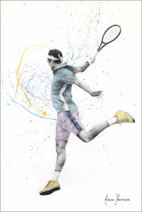 Premiumposter  The Tennis Player - Ashvin Harrison