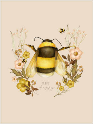 Premiumposter Floral with bee