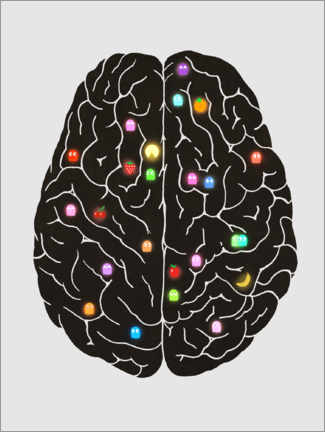 Premiumposter  Your Brain On Video Games - Terry Fan