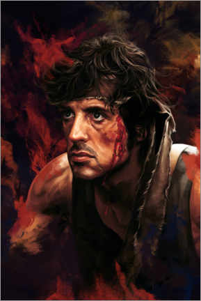 Akrylglastavla  Rambo (First Blood) - Dmitry Belov
