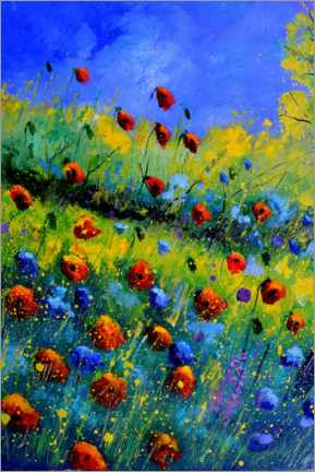 Aluminiumtavla  Poppies and poppies - Pol Ledent