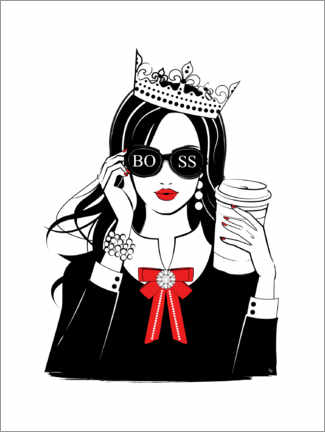 Canvastavla  Boss Girl Queen - Martina illustration
