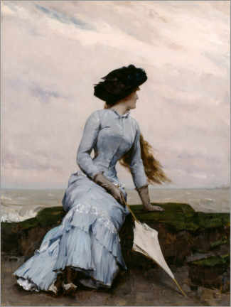 Akrylglastavla  Look out to sea - Charles Hermans