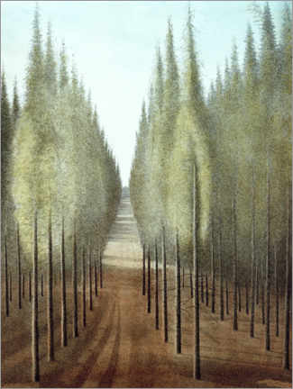 Akrylglastavla  Fire way - Léon Spilliaert
