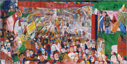 Galleritryck  The entry of Christ into Brussels - James Ensor