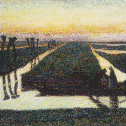 Aluminiumtavla  Broek in water country - Jan Toorop