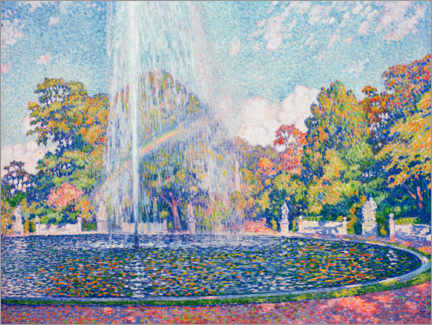 Canvastavla  Fountain in the park of Sanssouci near Potsdam - Theo van Rysselberghe