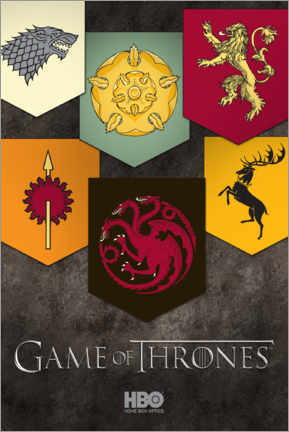 Premiumposter  Game of Thrones - Houses emblems