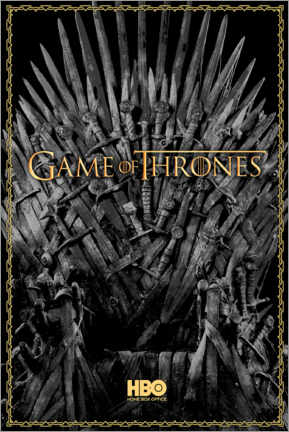 Premiumposter  Game of Thrones - The Iron Throne - gold