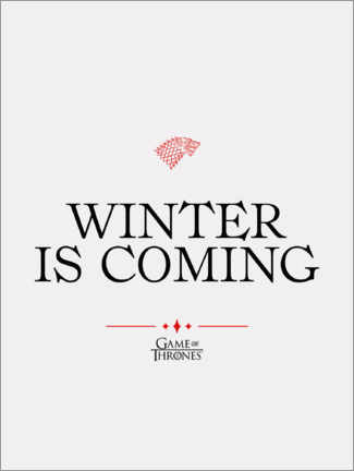 Premiumposter  GOT movie quote - Winter is coming