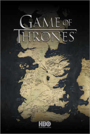 Premiumposter  Game of Thrones - Map of Westeros