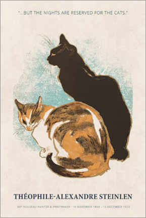 Premiumposter Théophile-Alexandre Steinlen - Reserved for the cats