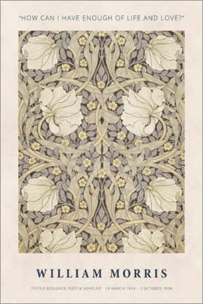 Canvastavla  William Morris - Life and love - Museum Art Edition