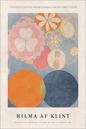 Canvastavla  Hilma af Klint - With great power - Museum Art Edition