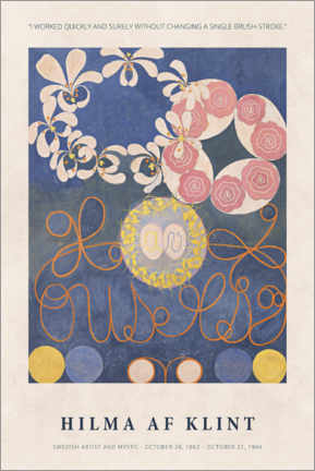 Premiumposter Hilma af Klint - Quickly and surely
