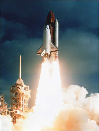 Premiumposter  Launch of shuttle STS-31, carrying space telescope - NASA