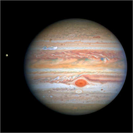 Premiumposter Jupiter and its moon Europe