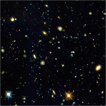Premiumposter View of very distant galaxies