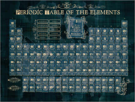 Premiumposter  Periodic table of elements gothic - Bekim Mehovic