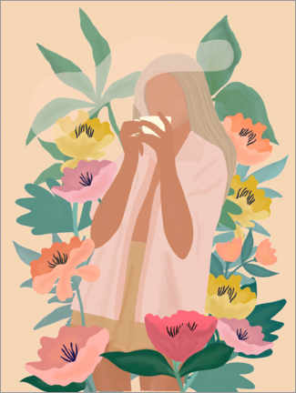 Premiumposter  Coffee among the flowers II - Elisandra Sevenstar