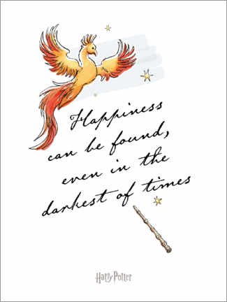 Premiumposter Happiness can be found - Harry Potter Quote