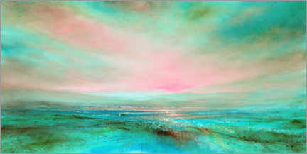Premiumposter The light, pink and turquoise