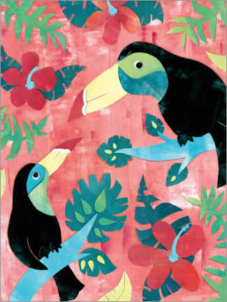 Premiumposter Two toucans