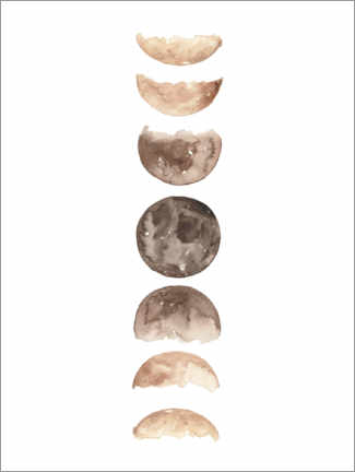 Premiumposter Moon phases watercolor
