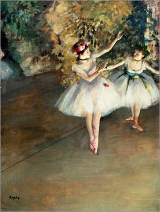 Premiumposter  Two dancers on the stage - Edgar Degas
