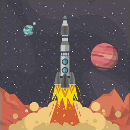 Premiumposter  Rocket launch from space - Kidz Collection