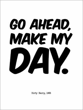 Premiumposter Dirty Harry quote