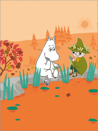 Premiumposter  Moomin and Snufkin - Favourite place