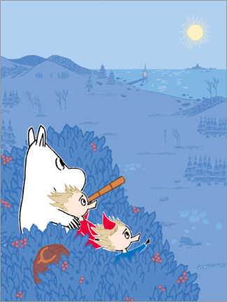 Premiumposter  An evening in the Moominvalley