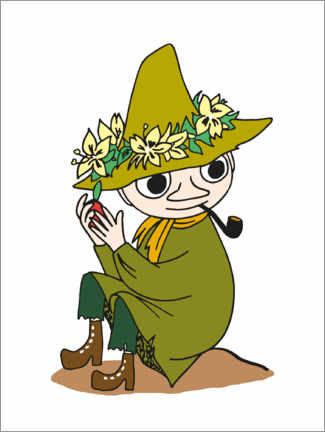 Premiumposter  Snufkin with a pipe