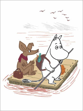 Premiumposter  Moomin and Sniff on their travels
