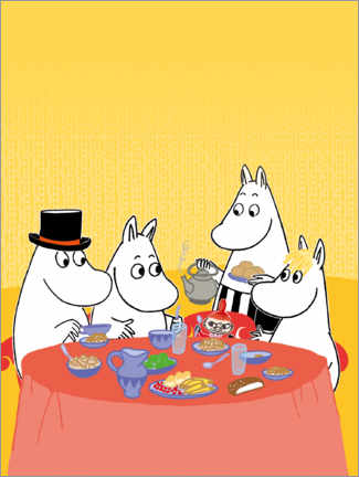 Premiumposter  Moomins at the table